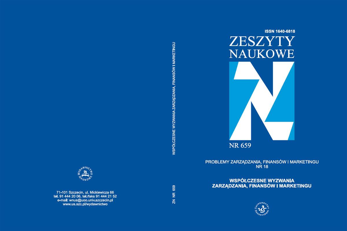 Uniwersytet Szczeciński Wydział Zarządzania i Ekonomiki